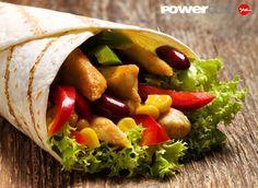 Viernes de almuerzo #Saludable @powerclubpanama #Wrap de Pollo y #Vegetales Y Tu ? Cuantas Calorias Quemaste Hoy ?