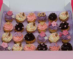 by Oh Crumbs! 60th Birthday Cupcakes, Birthday Ideas, Bite Size, Manchester, Girly, Feminine, Random, Desserts, Pink