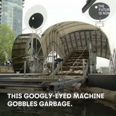 This googly-eyed machine gobbles garbage so you dont have to. #news #alternativenews