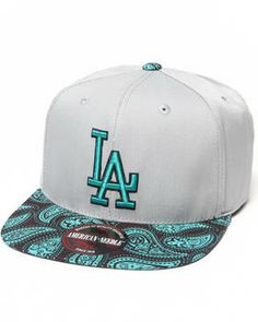 8a7047dd76f13 Love this Los Angeles Dodgers Teal Paisley Strapback Hat