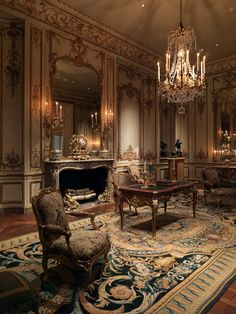 A blue and gold Savonnerie carpet with a royal heritage anchors cream and gold Boiserie from Hôtel de Varengeville a gift to the Met by style icon Jayne Wrightsman Classic Decor, Classic Interior, Beautiful Interiors, Beautiful Homes, French Interiors, Beautiful People, Style At Home, Victorian Homes, Victorian Interiors