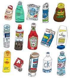 these are some basic illustrations that i could incorporate into to my designs as they are pop art