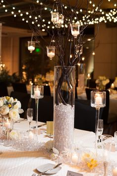 2014 suspended candle with branches, twinkling wedding candle decoration.