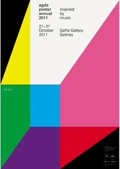Mark Gowing is an Australian-based designer. His work encompasses a variety of media, but I find his poster design to be especially compelling. With a Swiss-oriented reference point, Gowing effectively utilizes simple, geometric shapes with engaging results.