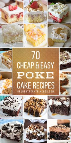Satisfy your sweet tooth with these cheap and easy poke cake recipes. From decadent chocolate cakes to fruity summer desserts, there are plenty of delicious cake recipes to choose from. Poke Cake Recipes, Delicious Cake Recipes, Poke Cakes, Yummy Cakes, Sweet Recipes, Layer Cakes, Dip Recipes, Cupcake Recipes