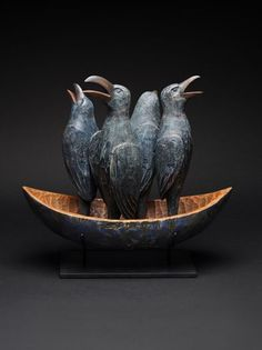 "Crows Ravens: ""Boat of Singing #Ravens,"" by Hib Sabin."