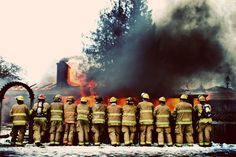 Greg Koontz, president of Arlington, Washington Local 3728 sent us this photo of fire fighters at a practice burn.