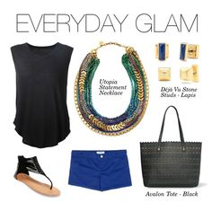 Stella & Dot Everyday Glam - Our new Utopia Necklace paired with our Déjà Vu Lapis Stone Studs and Avalon Tote will glam up your everyday style! #Stelladot #StelladotStyle #Fall2015 www.stelladot.com/jenjenny