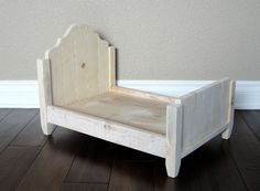 Newborn Photography Prop - Doll Bed - Photo Prop - unfinished - The Ryen. $60.00, via Etsy.