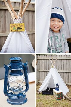 Camping party with a white sheet teepee Camping Party Activities, Camping Party Favors, Camping Parties, Camping Theme, Backyard Camping, Camping Ideas, Happy Birthday Girlfriend, Leo Birthday, Birthday Party Themes
