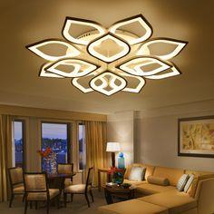 New modern led chandeliers for living room bedroom dining room acrylic iron body Indoor home chandelier lamp lighting fixtures #Affiliate