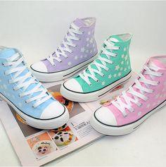 Korea fashion stars luminous canvas shoes - Thumbnail 1