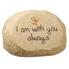 Love the simplicity of this pet memorial stone!