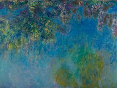"""Colour is my day-long obsession, joy and torment."""" - Claude Monet Wistera, Claude Monet, from the collection of Gemeentemuseum Den Haag"""