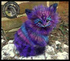 Handmade Poseable Stardust Kitten by Wood-Splitter-Lee Cute Fantasy Creatures, Cute Creatures, Magical Creatures, Wood Splitter Lee, Mystical Animals, Cute Baby Animals, Cat Art, Art Dolls, Fantasy Art