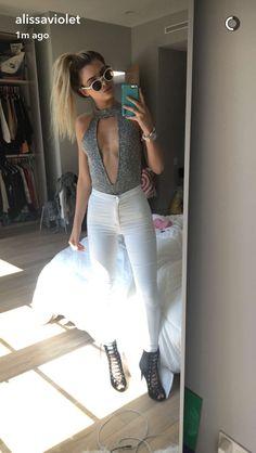 love her style! via Alissa Violet's snapchat