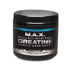 M.A.X. Creatine gives you a blast of extra strength, and builds muscle with the most proven supplement in the industry. Crank out a few extra reps and speed up your recovery.
