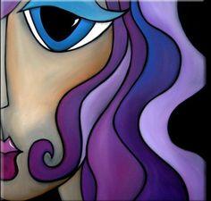 Pop Art Painting - That Good Night by Tom Fedro - Fidostudio Abstract Faces, Abstract Art, Fine Art Amerika, Pop Art Collage, Art Sculpture, Watercolor Artists, Face Art, Canvas Art, Art Prints