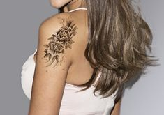 Flower Tattoo Temporary Tattoo Sleeve Arm Tattoo by MyBodiArt