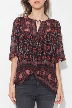 Silk Tapestry Bea Blouse by Ulla Johnson  shopheist    Such a gorgeous  pattern and 6ab1d07a99