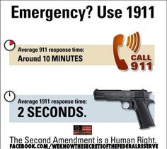 Emergency?  911 Vs. 1911 lol nice