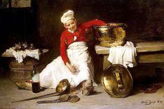 Claude Joseph Bail - Kitchen Boy