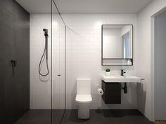 Small Bathroom Layout, Modern Small Bathrooms, Narrow Bathroom, Bathroom Mirror Storage, Bathroom Styling, Rustic Bathroom Decor, Bathroom Interior, Small Toilet, Toilet Design
