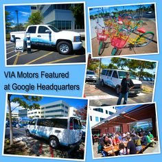 Google hosted an electric vehicle summit where VIA Motors and other EV's were featured at their headquarters in Mountain View, CA. Pacific Gas & Electric showed off one of their VIA electric pick-up trucks and Google showed a VIA 12-passenger electric van. http://www.VIAMotors.com #electriccars #electricvehicles #electricvans #electrictrucks #google #googlecars #googlevehicles