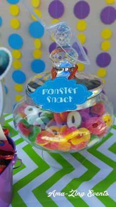 My Little Monster Is ONE Birthday Party Ideas