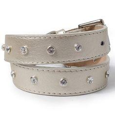 dog collar with swarovski crystals