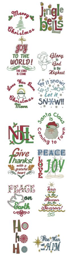 Embroidery | Free Machine Embroidery Designs | Holiday Expressions  @Designs by JuJu