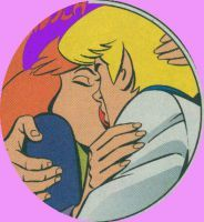 Fred X Daphne kiss by Readmylips13