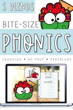 Bite-Size Phonics Lessons - S Blends Frustrated by a lack of engaging phonics resources? Need something quick, no prep, and paperless? Bite-Size Phonics is for you! Each Bite-Size pack addresses one Phonics Lessons, Teaching Phonics, Phonics Chart, Spelling Practice, Rhyming Activities, Rhyming Words, Phonemic Awareness, Common Core Standards, Bite Size