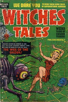 Comic Book Cover For Witches Tales #12