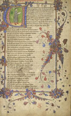 Image from the Glossary for the British Library Catalogue of Illuminated Manuscripts. Chaucer.