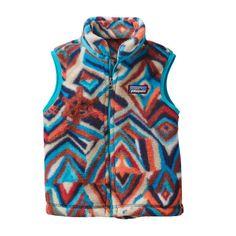 Patagonia Baby Synchilla\u00AE Fleece Vest - Raven Tapestry: Navy Blue RTNB