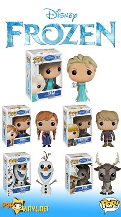 The Purple Pumpkin Blog: Frozen Funko POP Vinyl Figures | #100DaysOfDisney - Day 33 | Friday Finds Soooooooooooooo Cute!