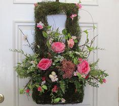 Pumpkin Arrangements, Pumpkin Centerpieces, Christmas Arrangements, Wreaths For Sale, Spring Door Wreaths, Wreaths For Front Door, Wall Basket, Baskets On Wall, Moss Decor