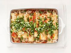 Light Chicken Enchiladas Recipe : Food Network Kitchen : Food Network - FoodNetwork.com