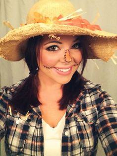 My scarecrow makeup for Halloween | Halloween Ideas | Pinterest ...