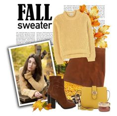 """Fall Sweaters"" by polybaby ❤ liked on Polyvore featuring J.Crew, Acne Studios, Bamboo, Bobbi Brown Cosmetics, Lauren Ralph Lauren, Rosantica, Dr.Hauschka and fallsweaters"