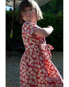 Girls shirt dress sewing pattern from Sewabaloo.com