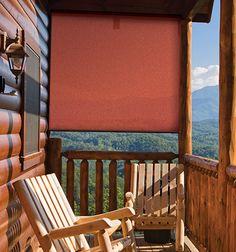 Fancy - Coolaroo Select Sun Shade, Terracotta, by Patio, Lawn & Garden Outdoor Sun Shade, Patio Shade, Outdoor Gardens, Indoor Outdoor, Outdoor Living, Outdoor Roller Blinds, Solar Shades, Sun Shades, Solar Screens