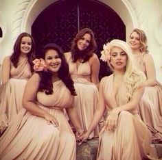 Lady Gaga Looked Like An Incredibly Normal Bridesmaid At Her Friend's Wedding