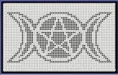 Moon Phase Pentagram Fillet Crochet Pattern
