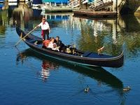 Authentic Venetian Gondola In Newport Beach California Take A Ride Through The Cs Quiet Harbor With Adventures