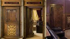 Home Theater Ticket Booth Hidden Door