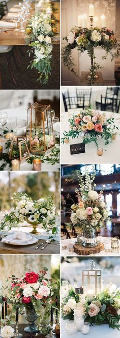 trendy wedding reception decoration ideas with organic floral
