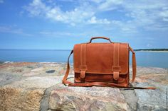 """Купить Портфель """"Деловой стиль"""" - рыжий, модный аксессуар, надежный портфель, кожа натуральная"""