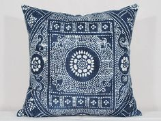 Vintage Indigo Batik Pillows Old Chinese HMONG Batik Fabric